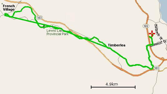 Map of trip to Tantallon
